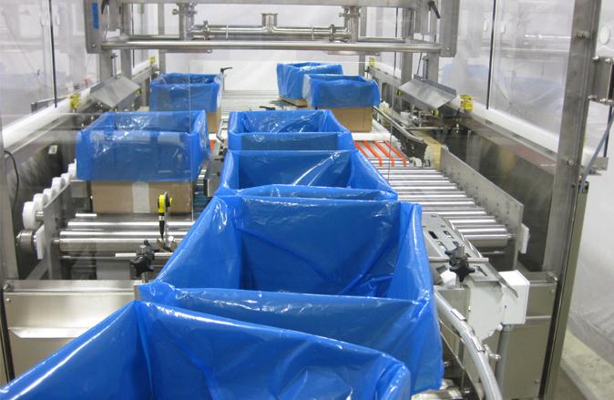Sistema de llenado a granel completamente automatizado